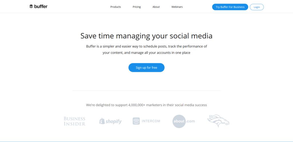 buffer social media tool