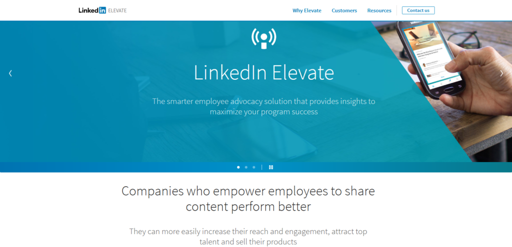 linkedin elevate social media tools