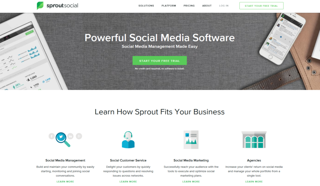 sprout social media tools
