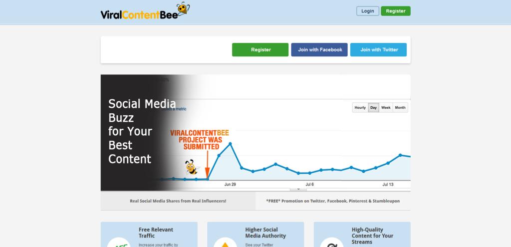 viral content bee social media tool