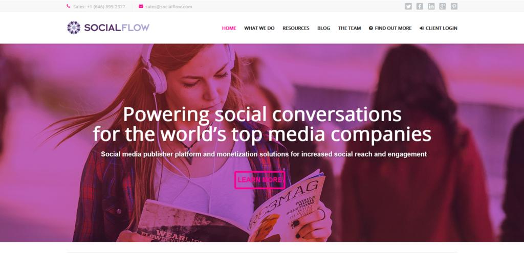 social flow social media tool