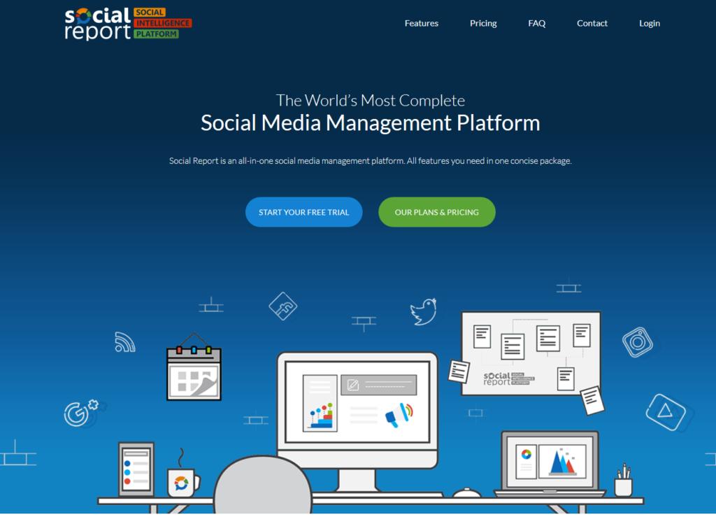 social report social media tools